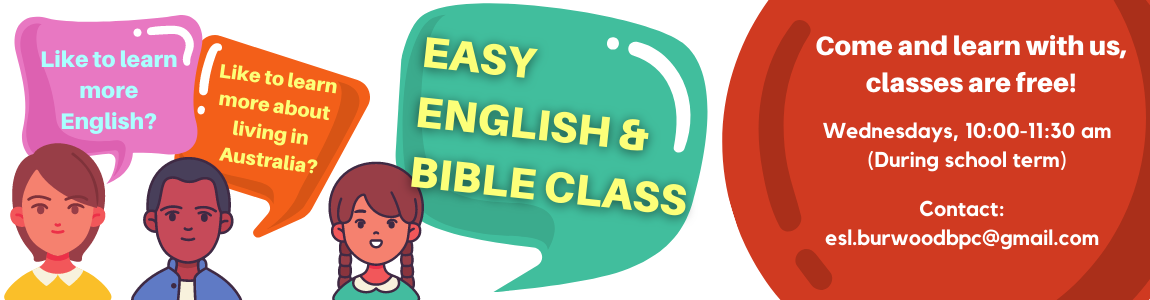 Easy English and Bible Class